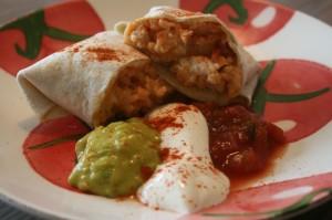 Kana ja riisiga burritod