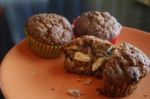 Kahe shokolaadiga muffinid